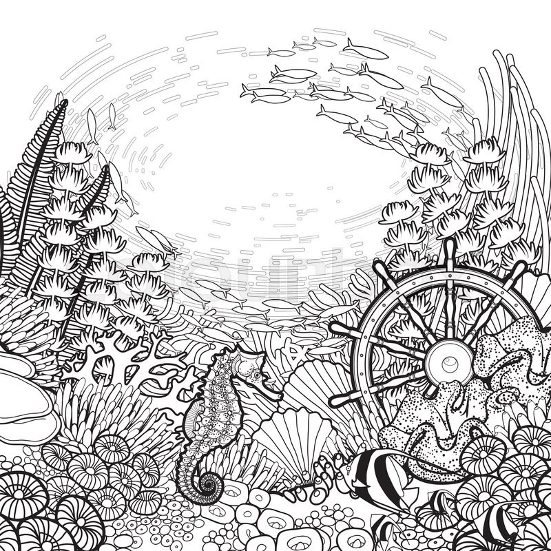ocean background coloring pages - ocean background coloring pages murderthestout