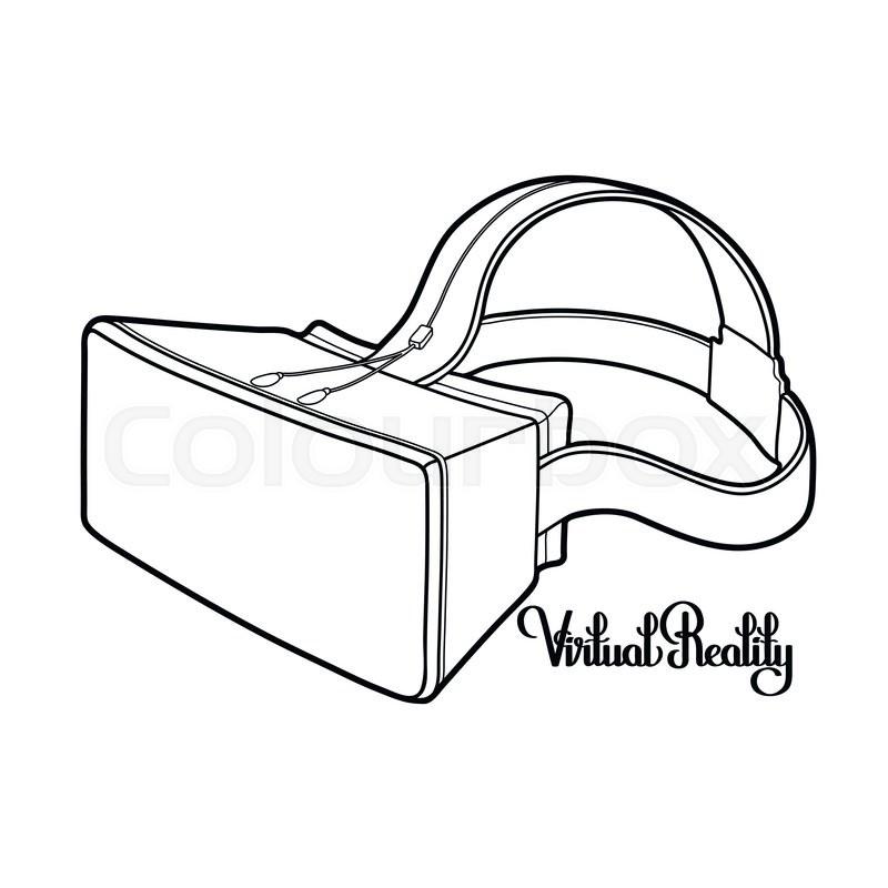 Graphic Virtual Reality Headset Drawn