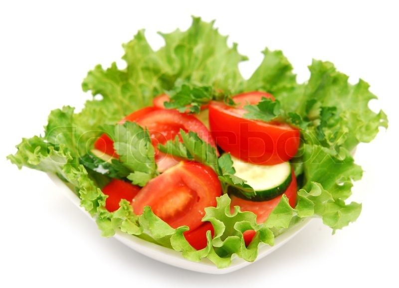 Fresh Salad In A Plate Stock Photo Colourbox