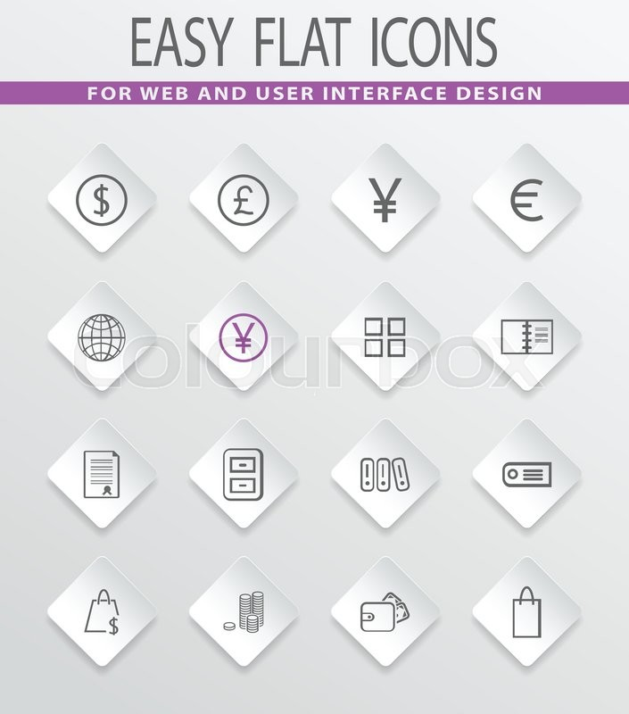 E commerce easy flat web icons for user interface design stock e commerce easy flat web icons for user interface design vector altavistaventures Images