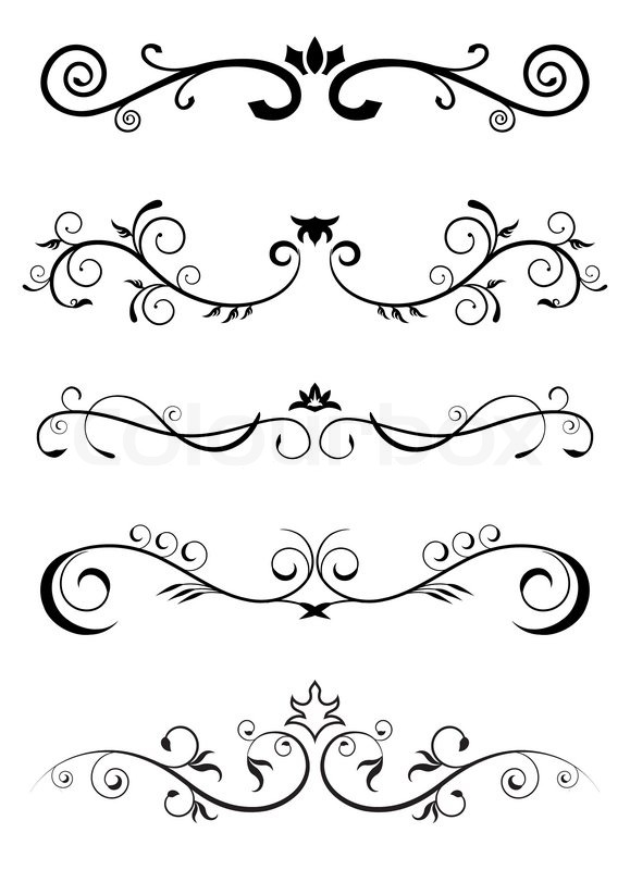 Designed Borders Floral Pattern Stock Vector Colourbox