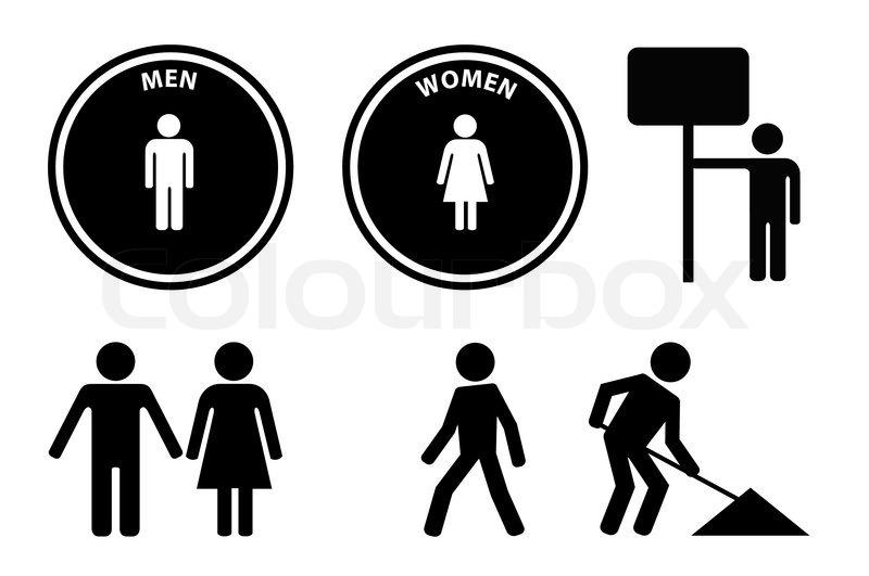 Vector Person Signs And Symbols Stock Vector Colourbox