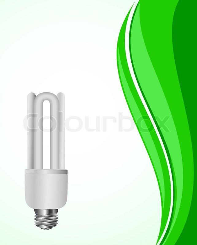 sc 1 st  Colourbox & Vector light bulb on green wave background | Stock Vector | Colourbox