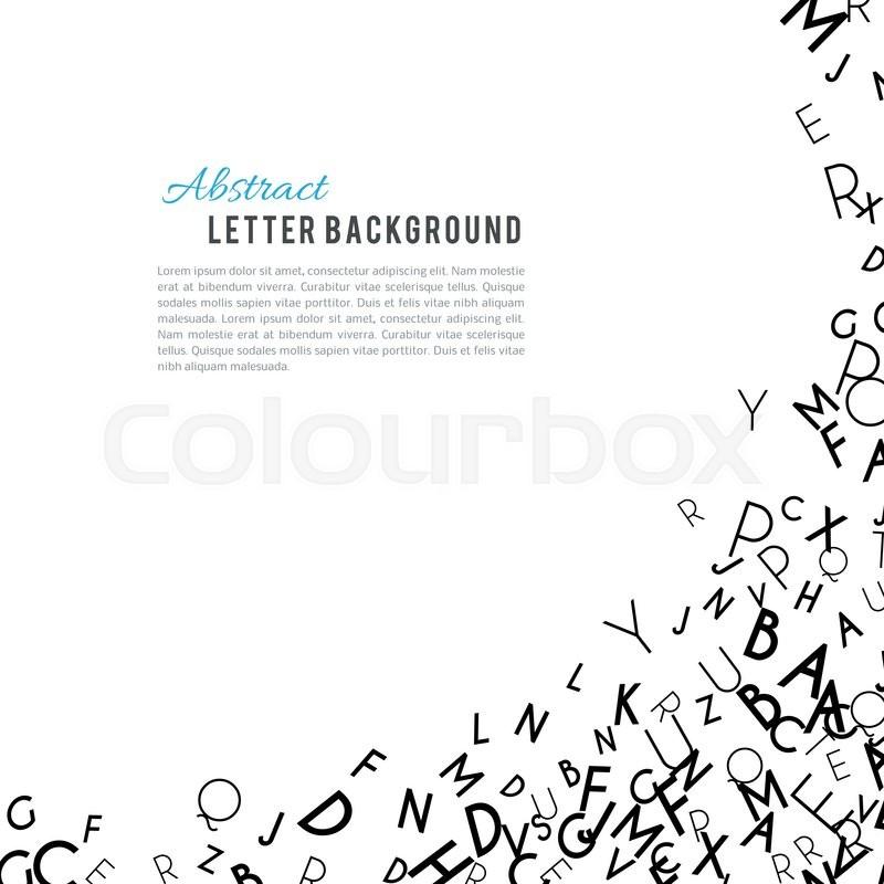 Abstract black alphabet ornament