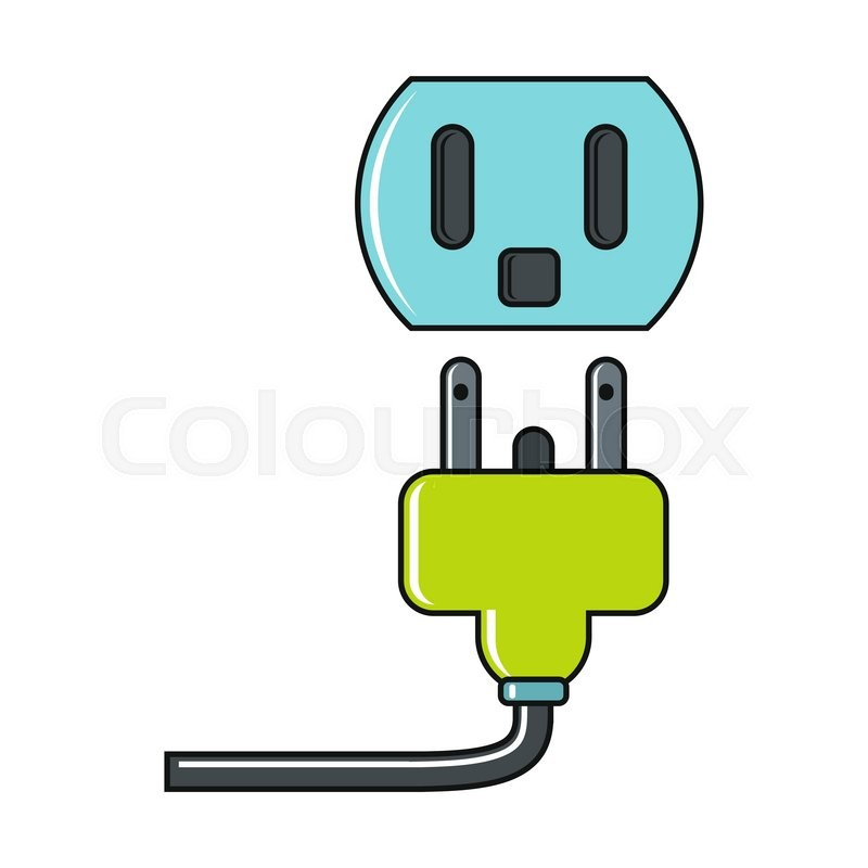 Cartoon of an Electrical Socket Mascot Holding a Thumb up ...