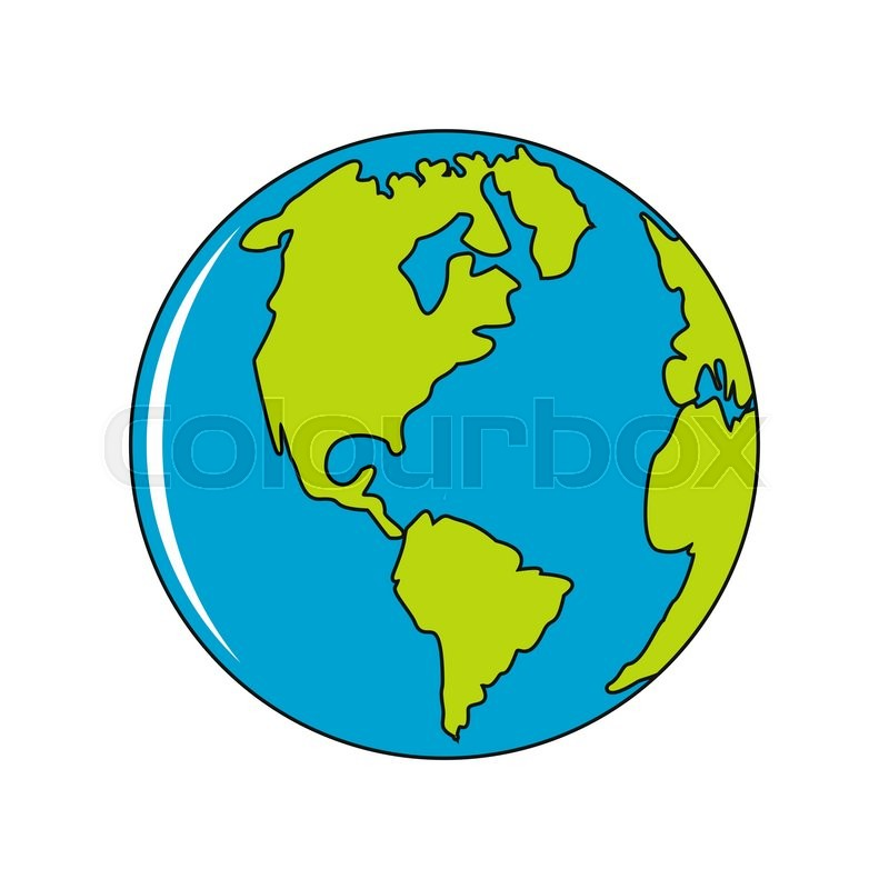 vector planet earth icon flat planet earth icon flat design vector rh colourbox com vector earth free vector earth free