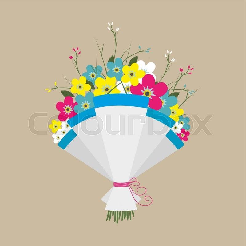 Cute bouquet of flowers. Wedding bouquet flowers, birthday bouquet ...