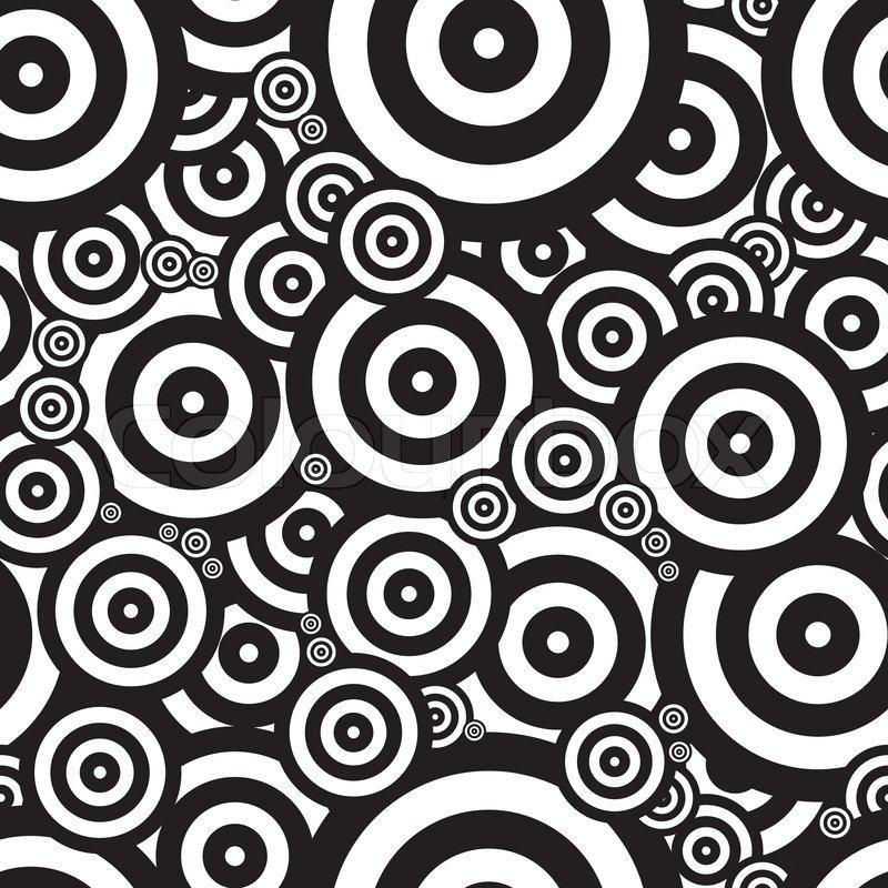 Schwarz Wei? Gepunktete Tapete : Black and White Psychedelic Patterns