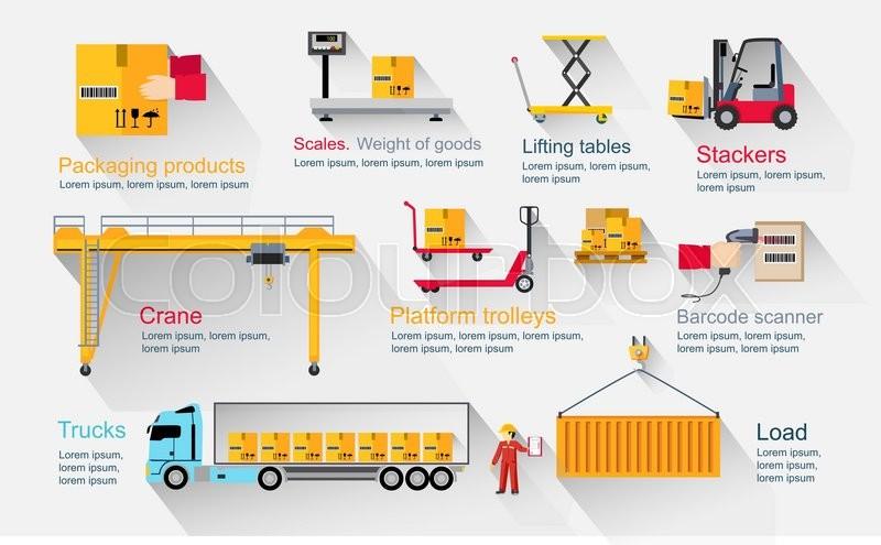 Concept Infographics Equipment Stock Vector Colourbox