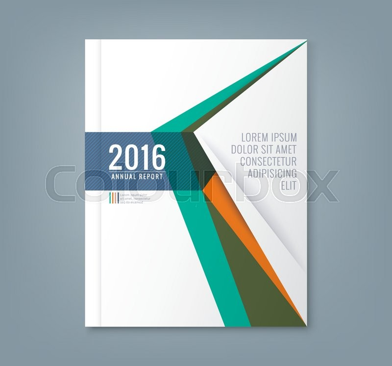 Corel Draw Book Cover Template ~ Abstract minimal geometric triangle shapes design
