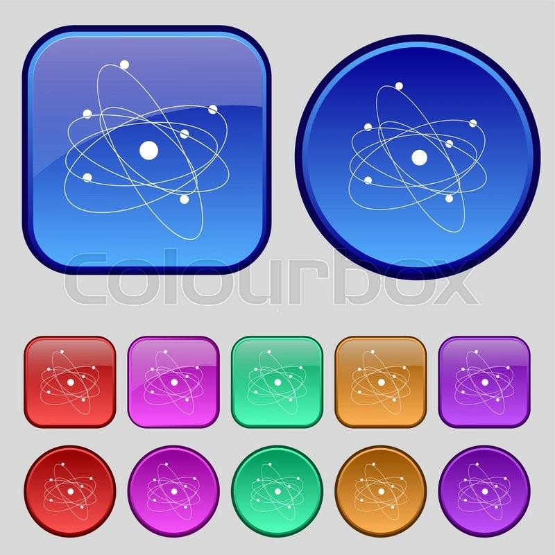 Physics Atom Big Bang Icon Sign A Stock Vector Colourbox