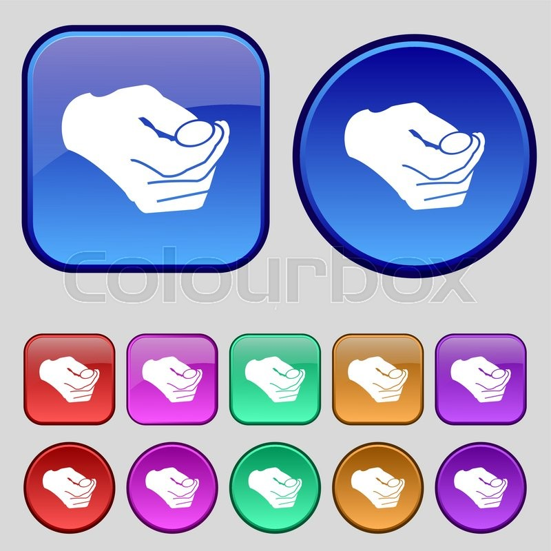 Decision making by chance with coin,     | Stock vector