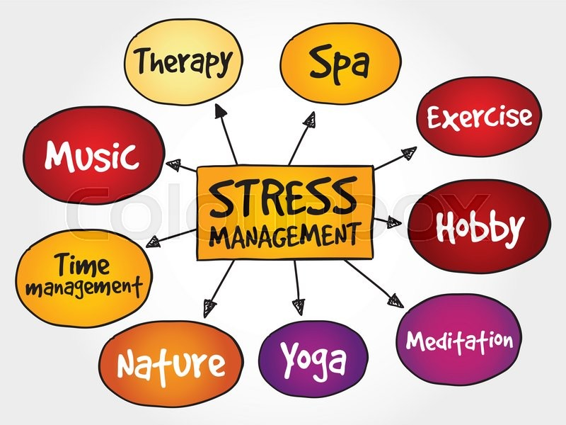 Mind Map Wiki >> Stress Management mind map, business concept | Stock Vector | Colourbox