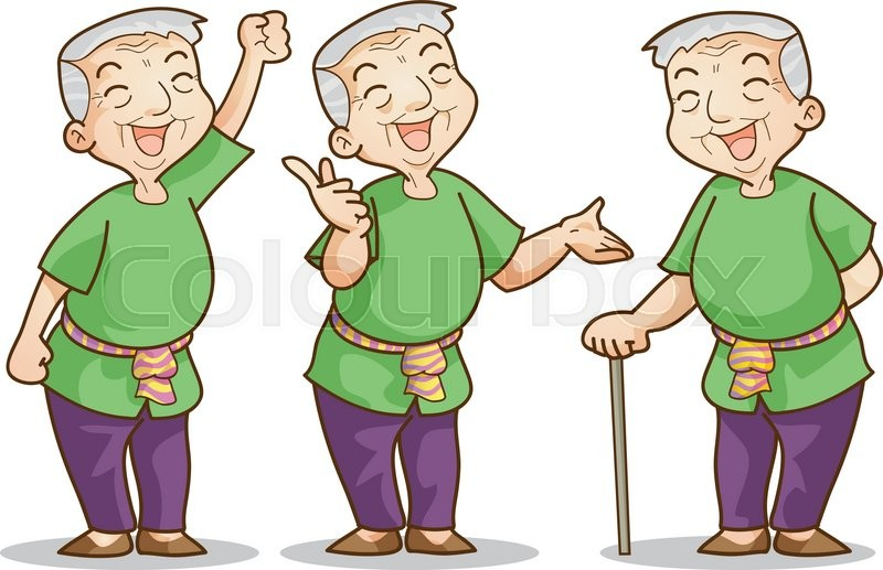 funny illustration of old man cartoon character set isolated vector rh colourbox com old man cartoon png old man cartoon png