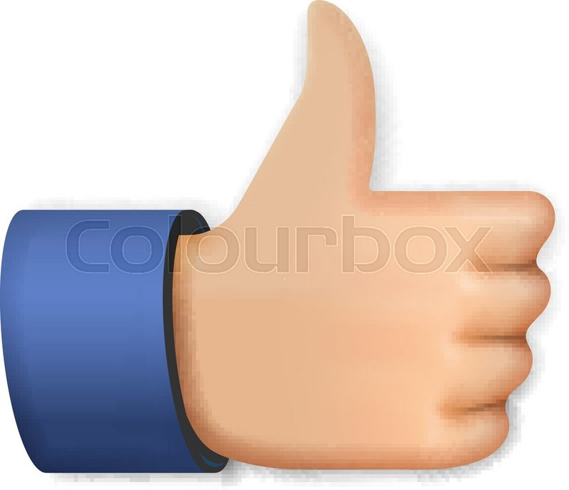Like Icon Emoji Thumb Up Symbol Vector Illustration Stock