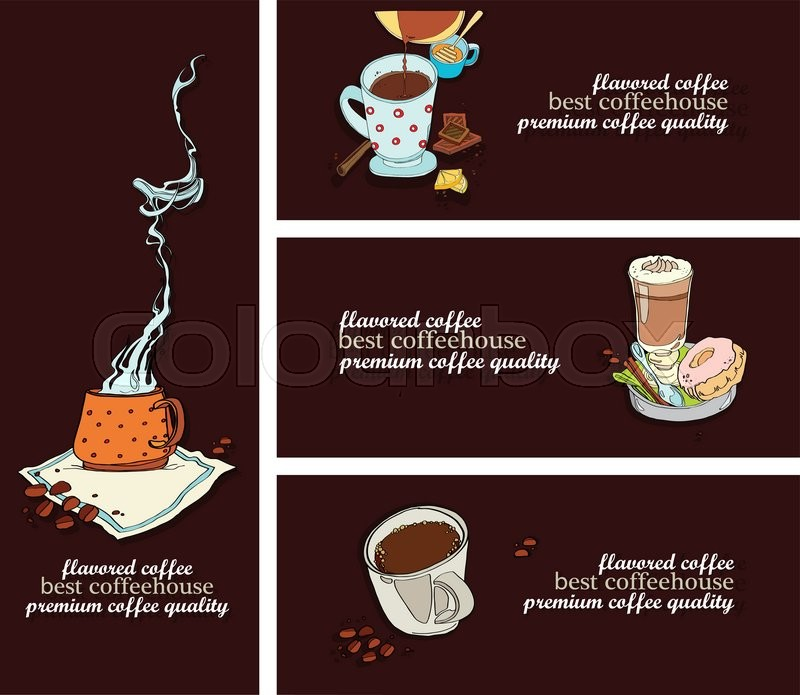 Set Of Flyer Design For The Best Coffeehouse Cafe Template Set