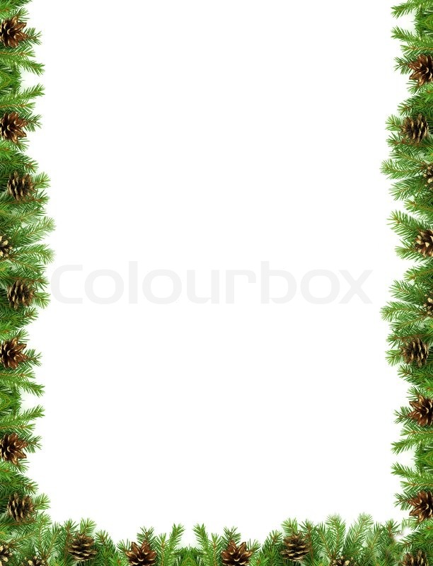 weihnachten gr nen rahmen isoliert auf wei em hintergrund stockfoto colourbox. Black Bedroom Furniture Sets. Home Design Ideas
