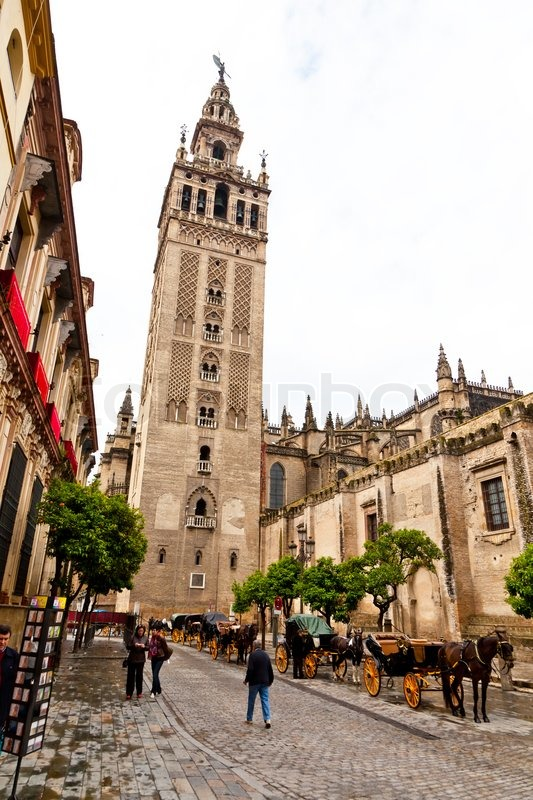 Spain, Andalusia. The Cathedral of Santa Maria de la Sede. One of the landmarks of the city, stock photo