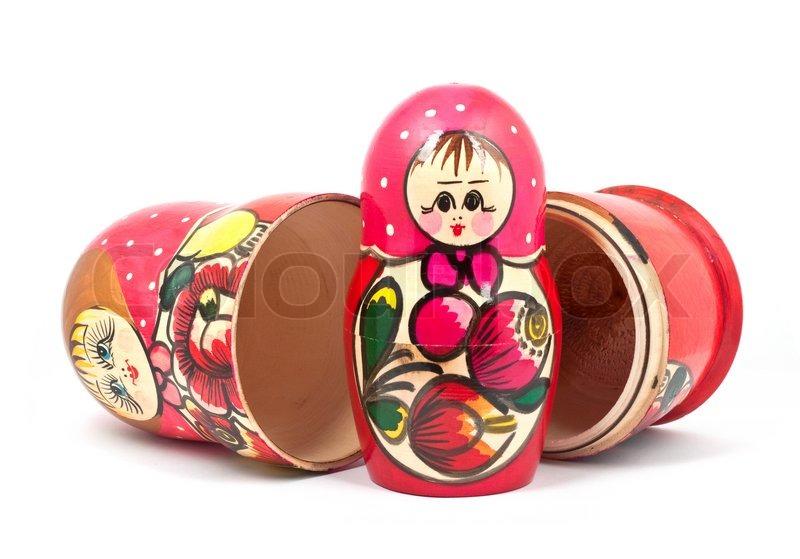 Stock foto af russiske dukker