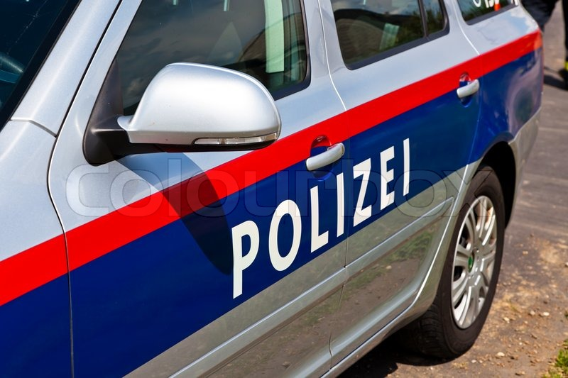 Editorial image of 'A police car of the Austrian police. Police vehicle'