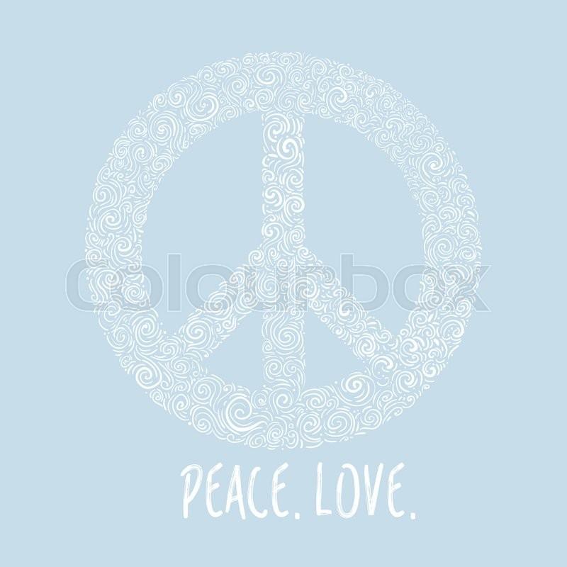 Vector illustration of peace sign on blue background template for vector illustration of peace sign on blue background template for international peace day stock vector colourbox maxwellsz