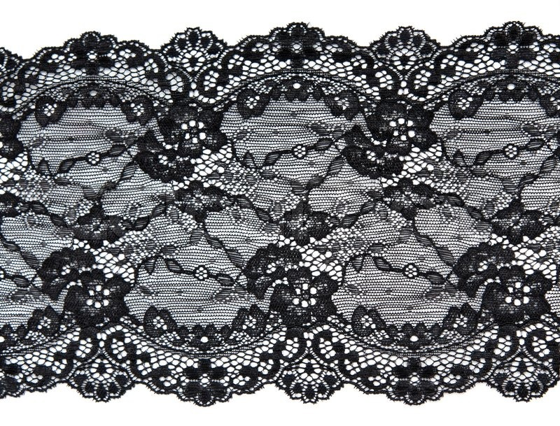 Schwarze Tapete Mit Wei?em Muster : Simple Black Lace Pattern