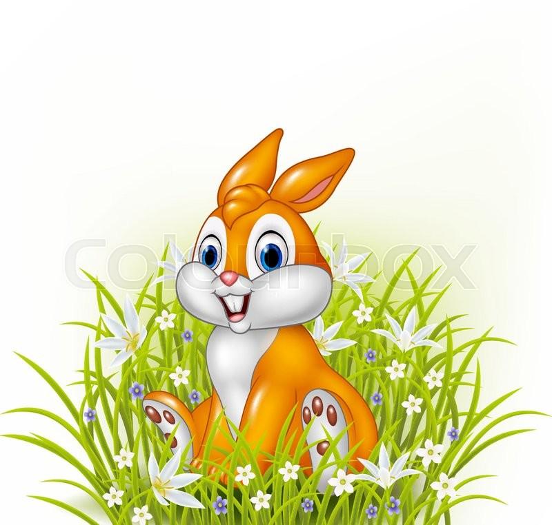 Vector Illustration Of Cartoon Rabbit ...