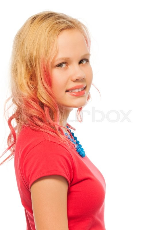 Beautiful Portrait Of Blonde Girl Early   Stock Photo  Colourbox-3424