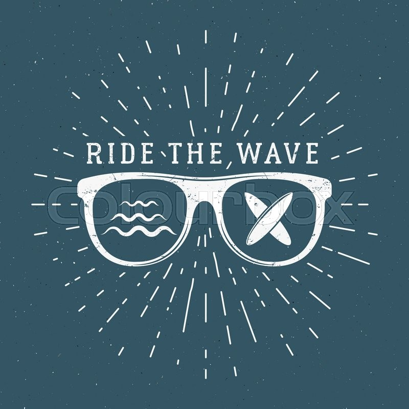 Vintage Surfing Graphics and Emblem for web design or ...