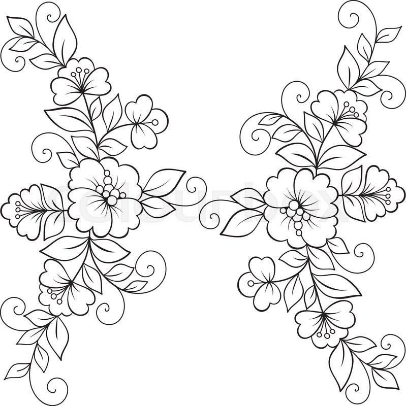 Flower vector ornament frame black flower frame lace ornament flower vector ornament frame black flower frame lace ornament stock vector colourbox mightylinksfo