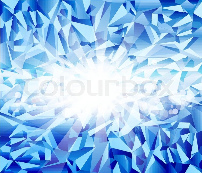 Ice Cream Background Sparking Shiny Decoration Free Vector: Vector Ice Blue Background With Bright Rays And Blur