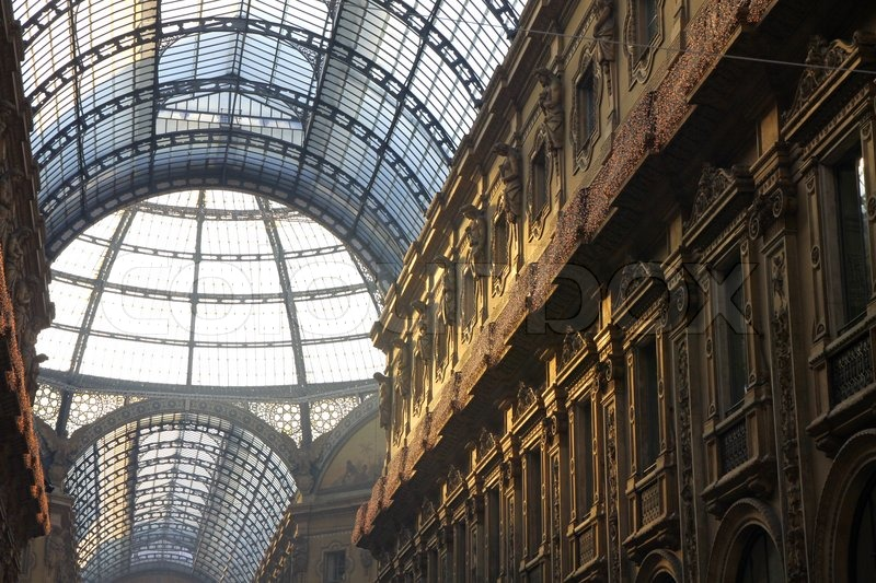 Galleria Vittorio Emanuele Shopping Center in Mailand, Italien, Stock