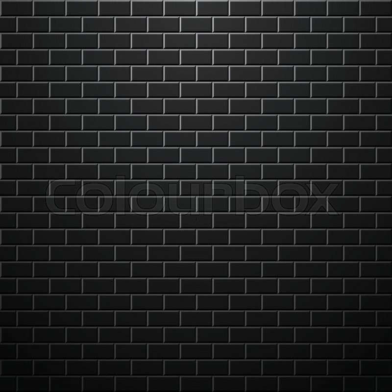 Dark brick wall. Vector background. Space for your design, vector