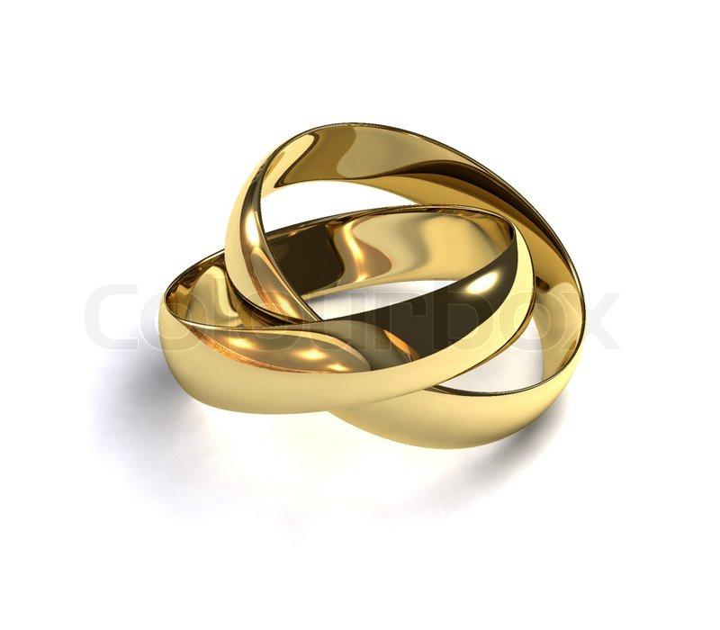Zwei Goldene Hochzeit Ringe Auf Einem Stockfoto Colourbox