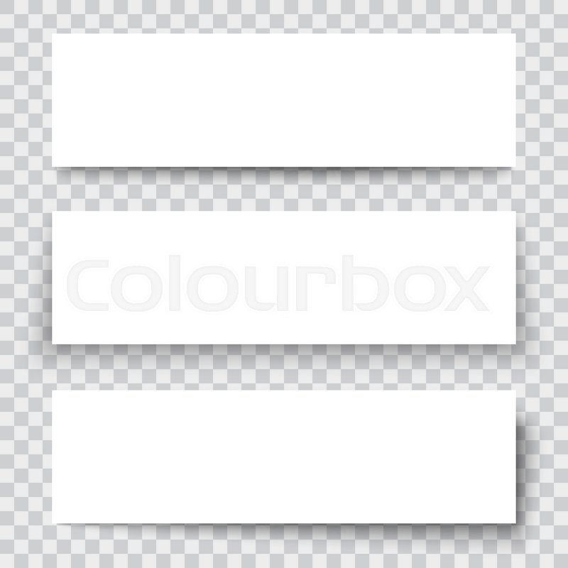 Set Of Blank Paper Sheet With Vertical Banner And Shadow, Design Element  For Advertising And Promotional Isolated On Transparent Background.  Blank Sheet Of Paper With Lines