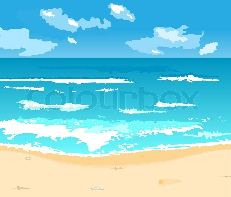 sea bed beach vector - photo #21