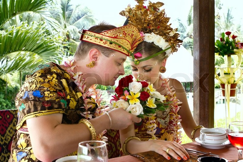 Traditional Balinese Ceremonial Wedding In Royal Attire