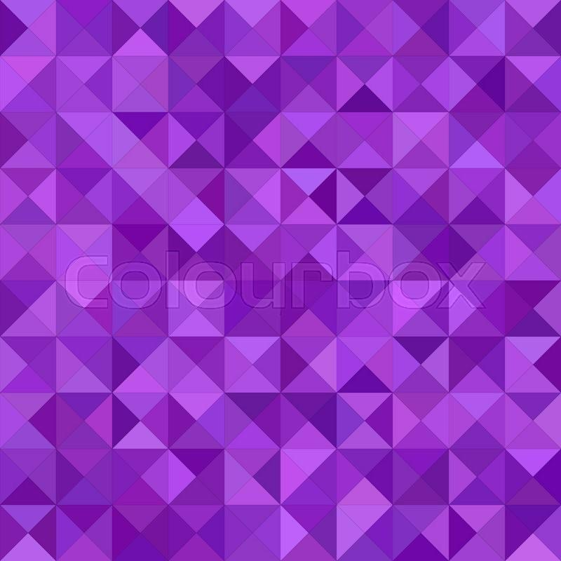 purple color triangle mosaic vector background design stock vector colourbox