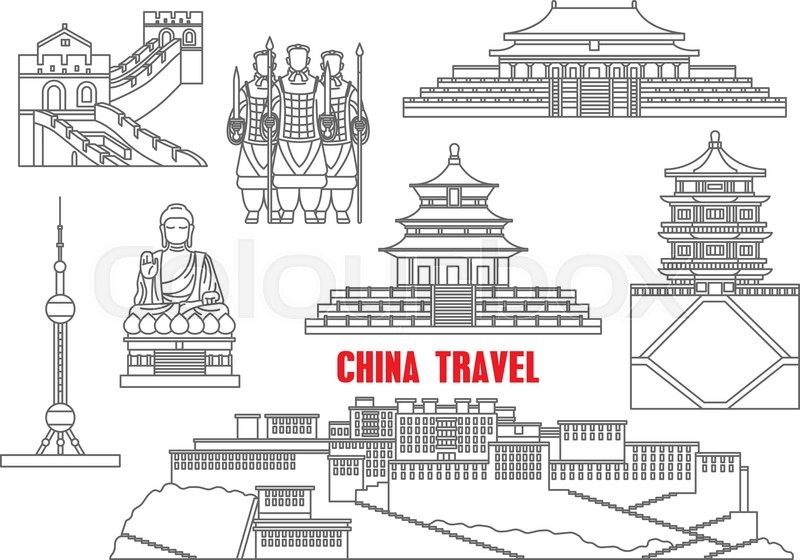 china travel landmarks with the great wall  forbidden city  terracotta army  summer palace