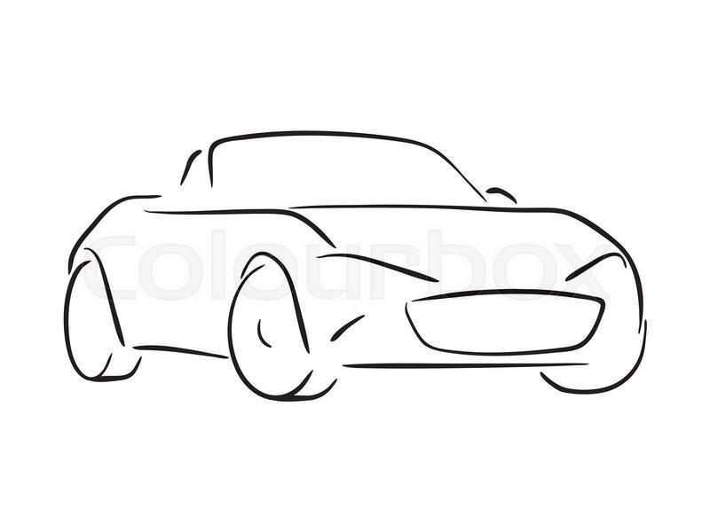 Sports Car Simple Sketch Illustration Stock Vector Colourbox - Simple sports car