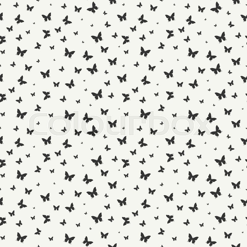 Monochrome Abstract Seamless Pattern Stock Vector Colourbox