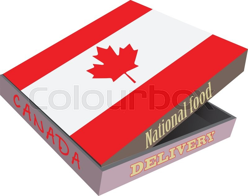 The Symbol Of The National Cuisine Of Canada Cardboard Box With