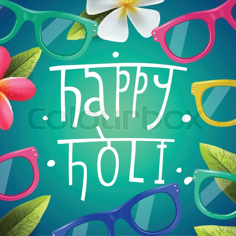 Happy Holi poster of indian color festival, can be use party ...