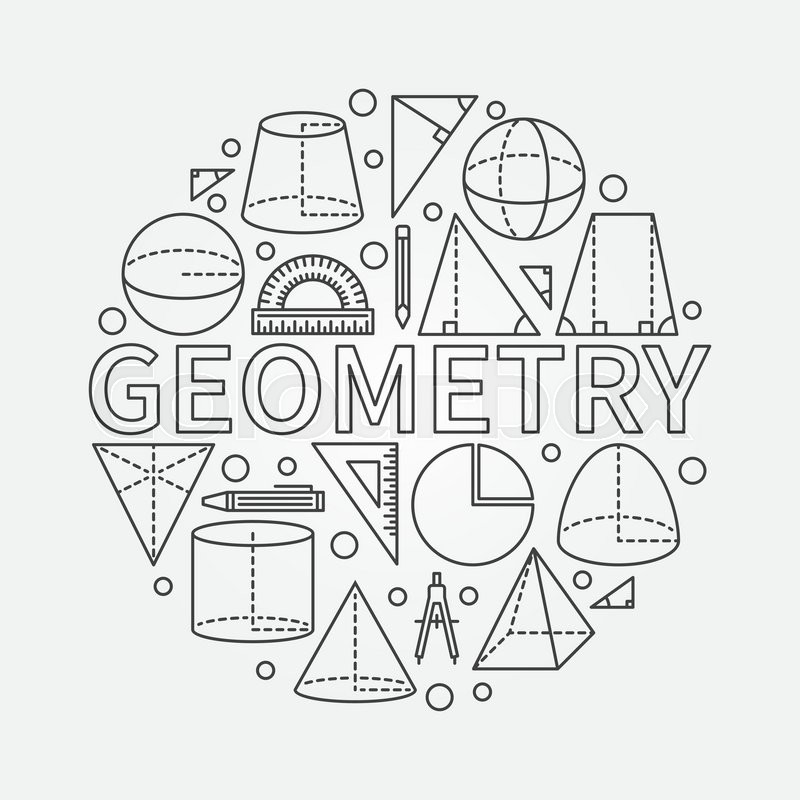Geometry Round Symbol Vector Math Circle Background Made With