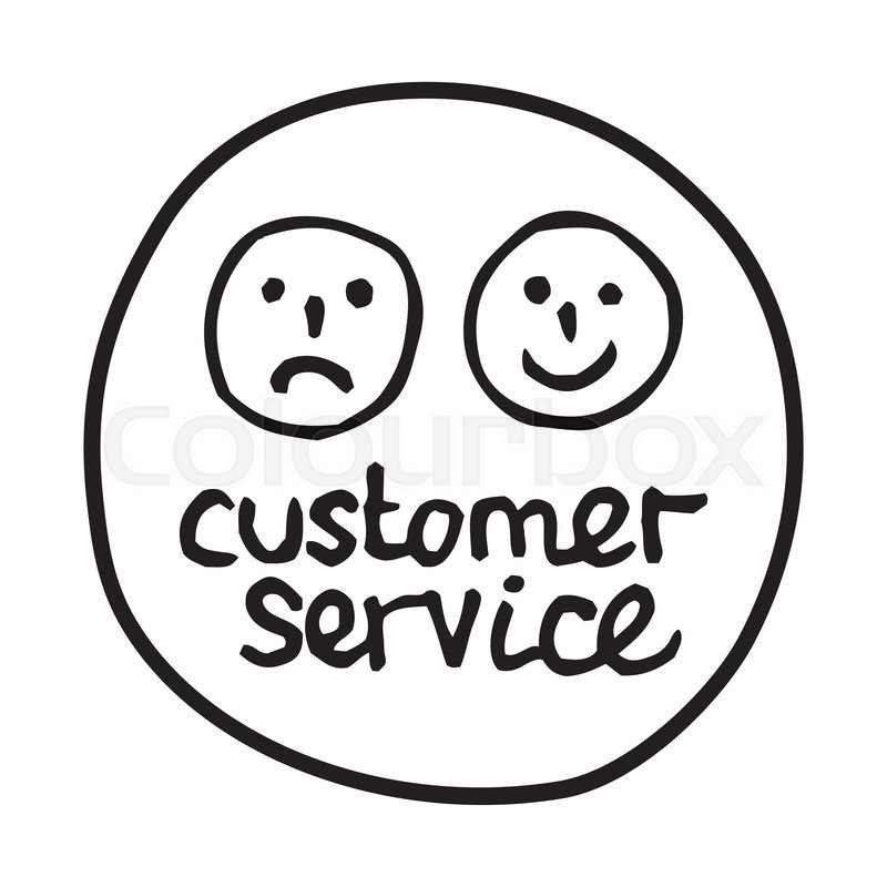 Doodle Customer Service icon. Infographic symbol in a ...
