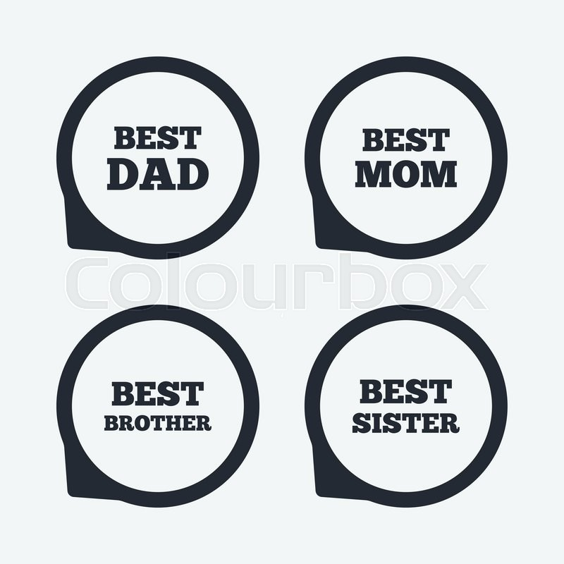 Best Mom And Dad Brother And Sister Icons Award Symbols Flat Icon
