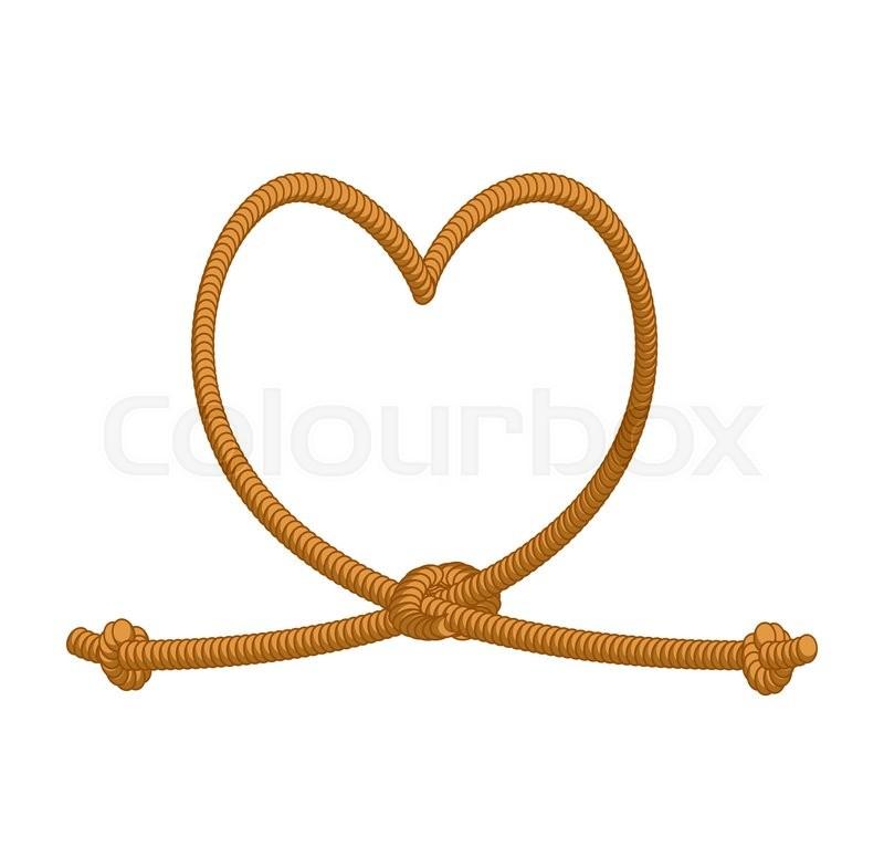 Heart Tie Rope Thick Rope Of Love Rope Love Symbol Of Eternal
