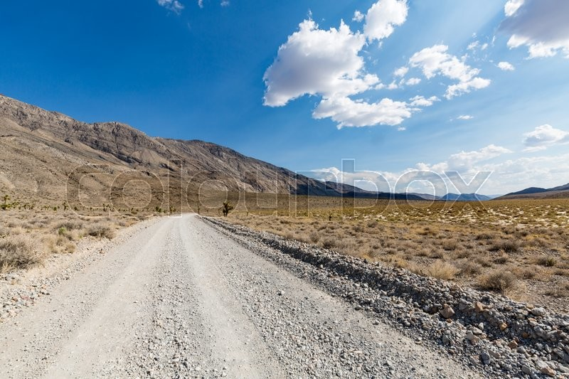 Nature along the street to Racetrack, Death Valley National Park, stock photo