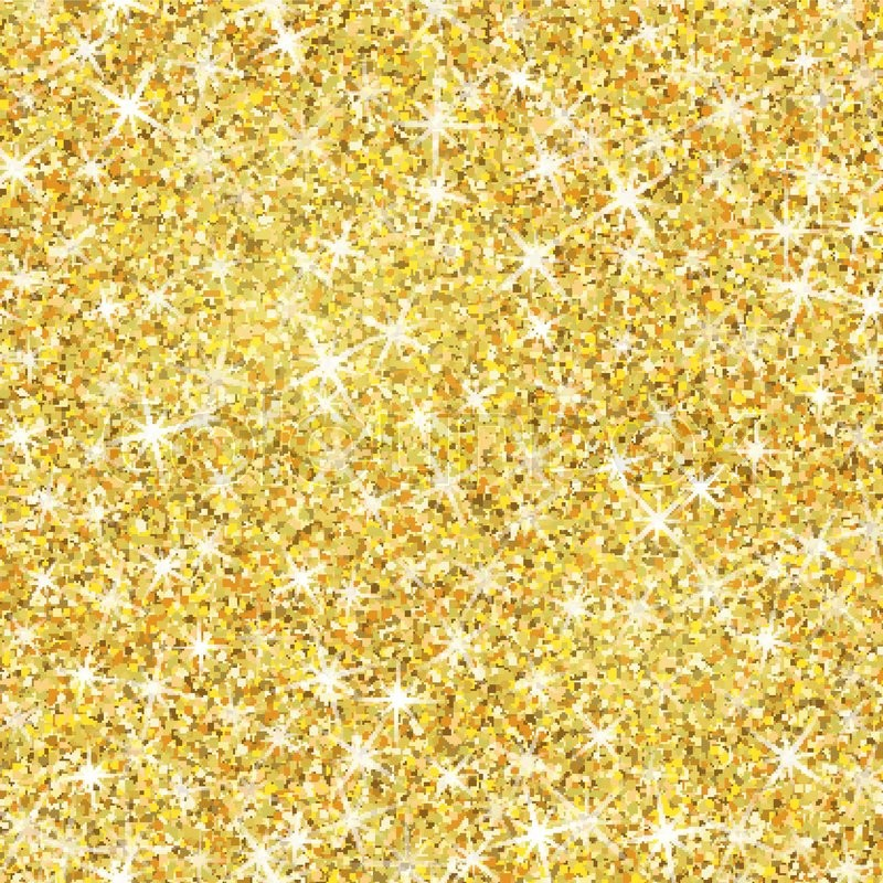 Seamless Gold Glitter Texture Isolated Stock Vector