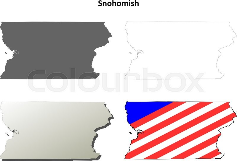 Snohomish County, Washington blank ... | Stock vector ... on jefferson county map, king county map, snohomish wa, city of marysville map, whatcom county map, everett map, kitsap county map, dayton county map, riley county ks map, pierce county map, washington map, mount vernon map, deer park county map, skagit county map, clark county map, bothell map, chelan county map, thurston county map, saint paul county map, seattle map,
